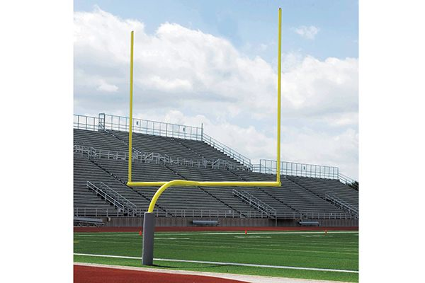 250SS High School Gooseneck Goal Posts (White) Image