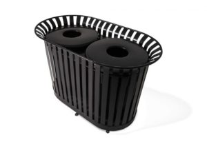 LX-72FT – Dual Lexington Trash Receptacle Image