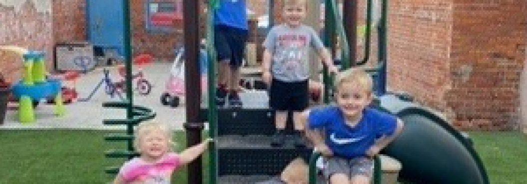 De Witt Daycare Updates Outdoor Play Space