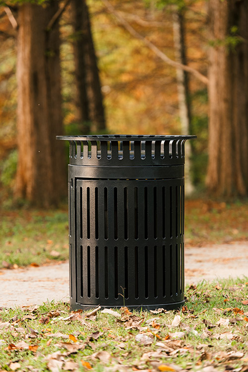 Image of a trash receptacle site amenity.