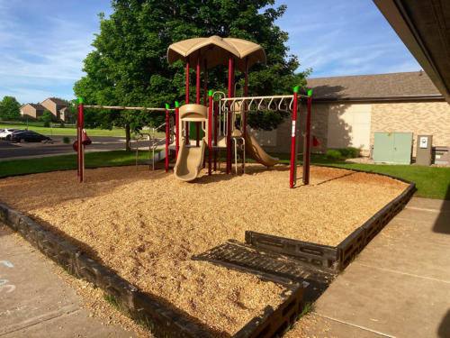 Playground and surfacing installation for Linwood Church.