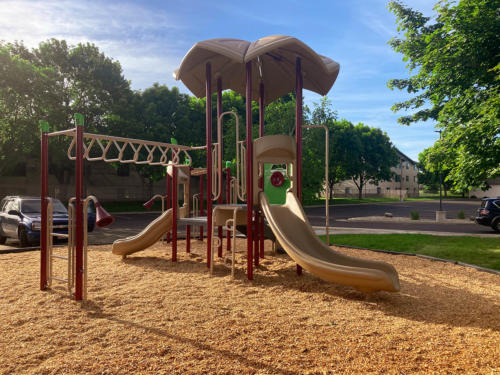 Playground and surfacing installation for Linwood Church - Back View.