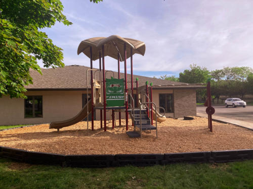 Playground and surfacing installation for Linwood Church - Side View.