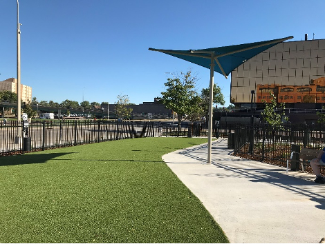 Kirby Dog Park artificial turf resurfacing - Dog Park Interior