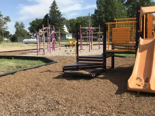 Playground slide and climbing structures - Blunt Elementary