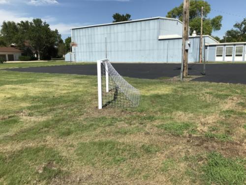 Soccer goal - Blunt Elementary