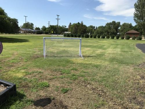 Soccer goals and field - Blunt Elementary